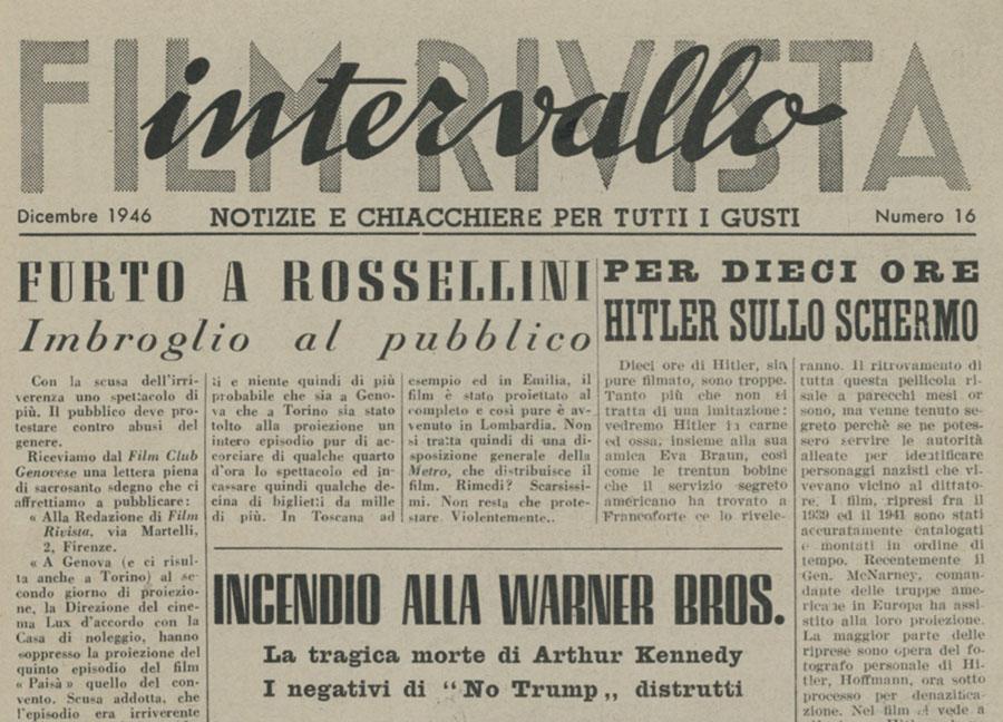 Film Rivista Intervallo Firenze Dicembre 1946